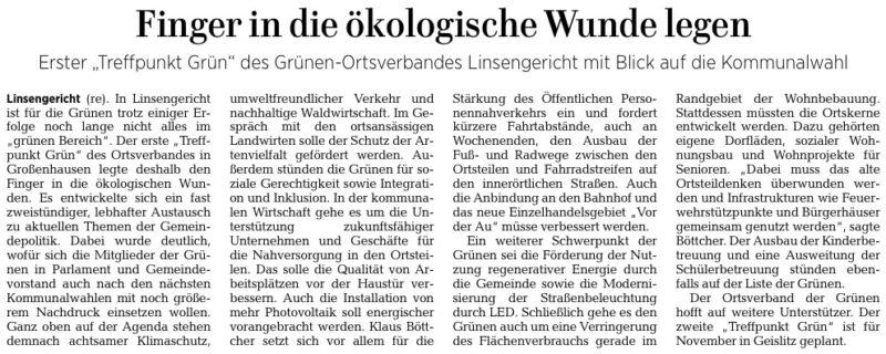 Gelnhäuser Neue Zeitung vom 21.10.2020
