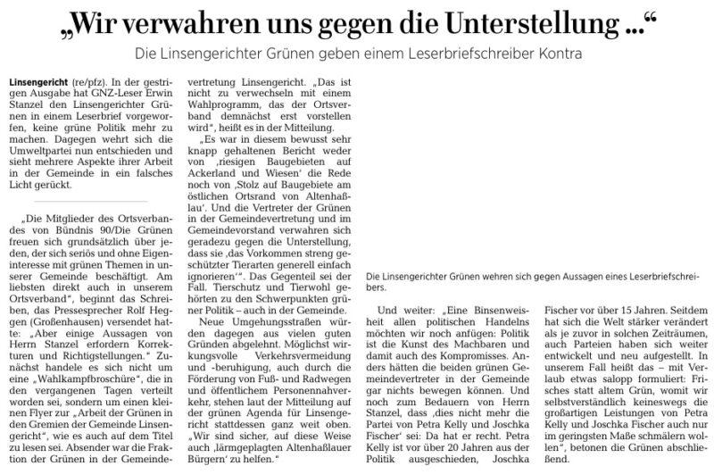 Gelnhäuser Neue Zeitung vom 21.01.2021