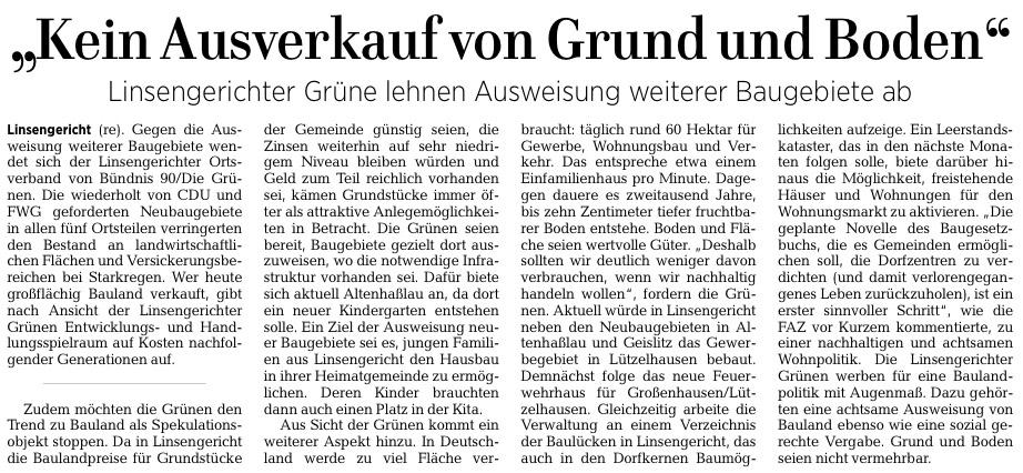 Gelnhäuser Neue Zeitung vom 09.02.2021