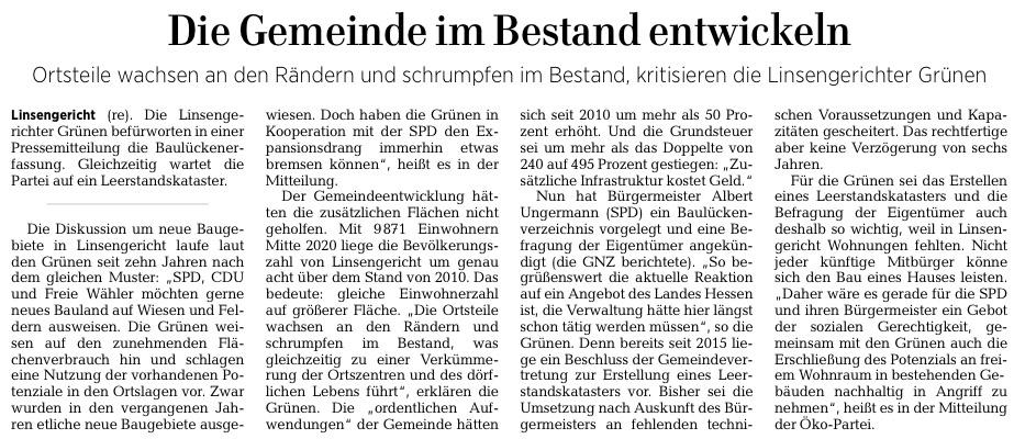 Gelnhäuser Neue Zeitung vom 23.02.2021